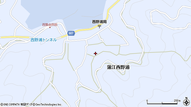 大分県佐伯市蒲江大字西野浦1070周辺の地図