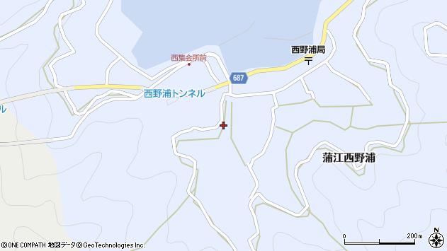 大分県佐伯市蒲江大字西野浦476周辺の地図