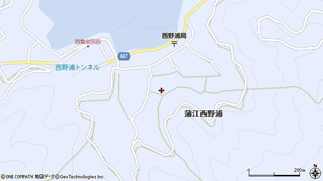 大分県佐伯市蒲江大字西野浦1165周辺の地図