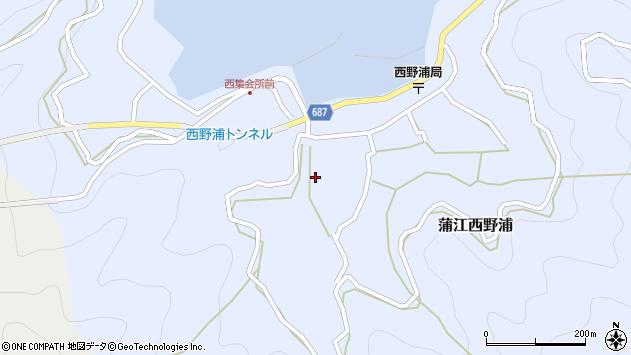 大分県佐伯市蒲江大字西野浦470周辺の地図