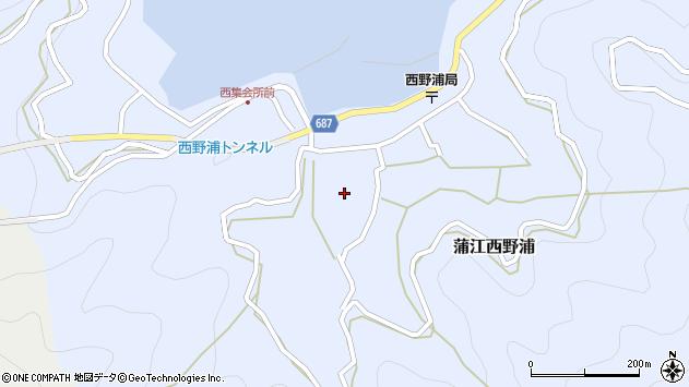 大分県佐伯市蒲江大字西野浦448周辺の地図