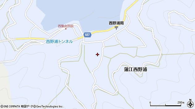 大分県佐伯市蒲江大字西野浦1120周辺の地図