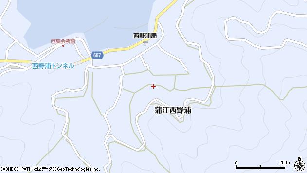 大分県佐伯市蒲江大字西野浦1313周辺の地図