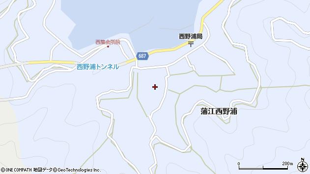 大分県佐伯市蒲江大字西野浦1122周辺の地図