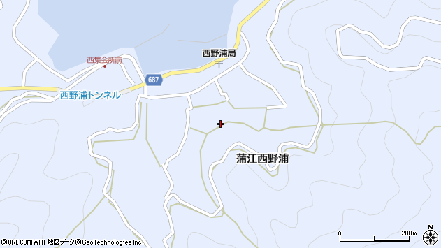 大分県佐伯市蒲江大字西野浦1280周辺の地図