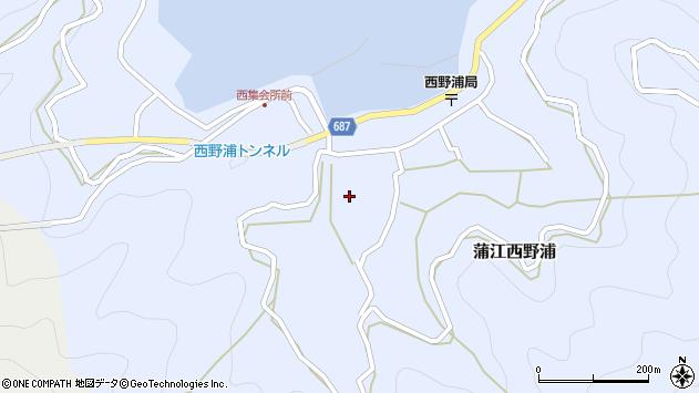 大分県佐伯市蒲江大字西野浦430周辺の地図