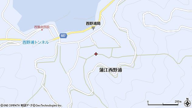 大分県佐伯市蒲江大字西野浦1311周辺の地図