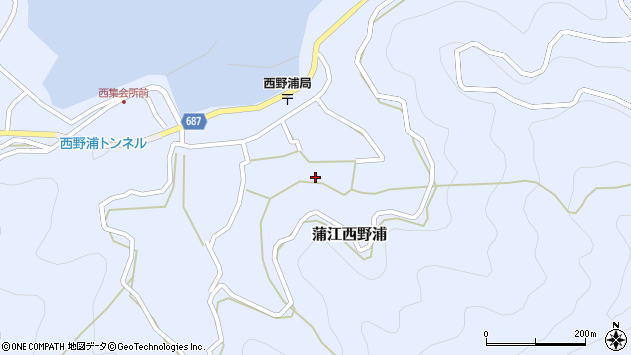 大分県佐伯市蒲江大字西野浦1314周辺の地図