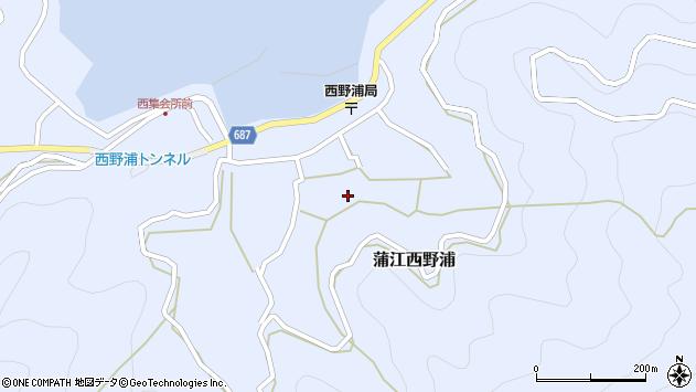 大分県佐伯市蒲江大字西野浦1201周辺の地図