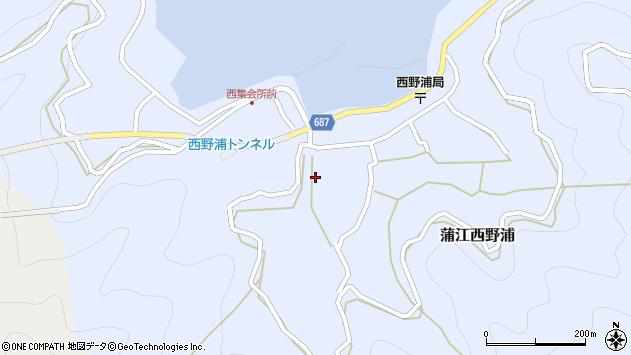 大分県佐伯市蒲江大字西野浦423周辺の地図