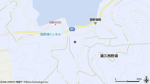 大分県佐伯市蒲江大字西野浦434周辺の地図