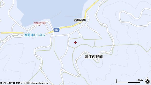 大分県佐伯市蒲江大字西野浦1160周辺の地図