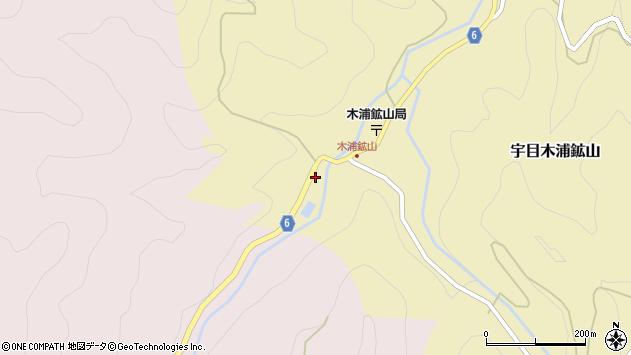 大分県佐伯市宇目大字木浦鉱山344周辺の地図