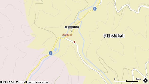 大分県佐伯市宇目大字木浦鉱山427周辺の地図