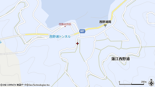 大分県佐伯市蒲江大字西野浦418周辺の地図