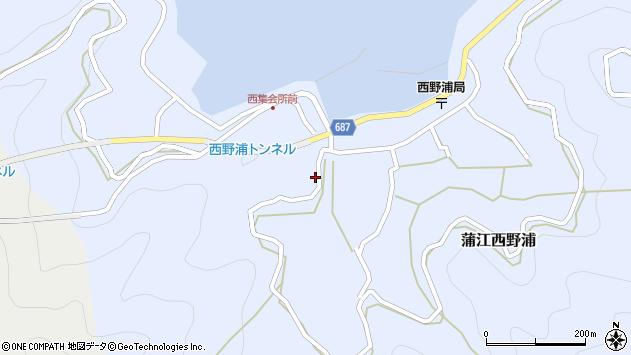 大分県佐伯市蒲江大字西野浦396周辺の地図