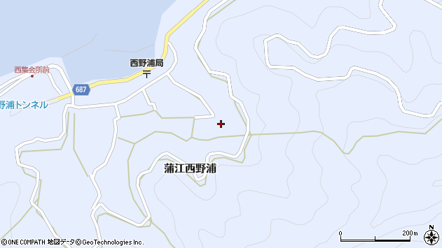 大分県佐伯市蒲江大字西野浦1425周辺の地図