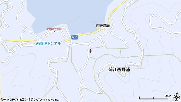 大分県佐伯市蒲江大字西野浦1114周辺の地図