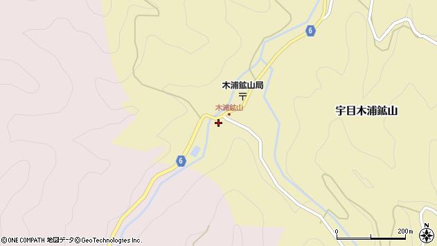 大分県佐伯市宇目大字木浦鉱山440周辺の地図