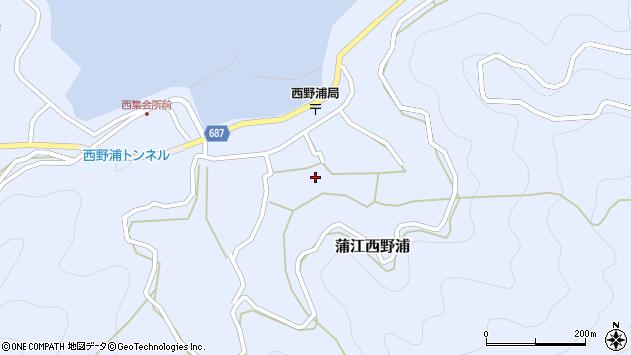 大分県佐伯市蒲江大字西野浦1310周辺の地図