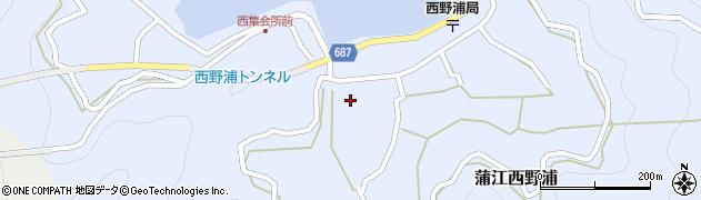 大分県佐伯市蒲江大字西野浦428周辺の地図