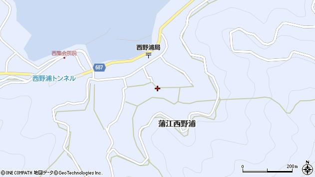 大分県佐伯市蒲江大字西野浦1231周辺の地図