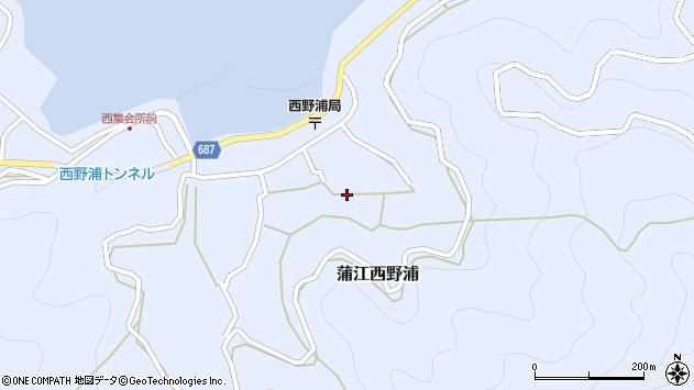 大分県佐伯市蒲江大字西野浦1307周辺の地図