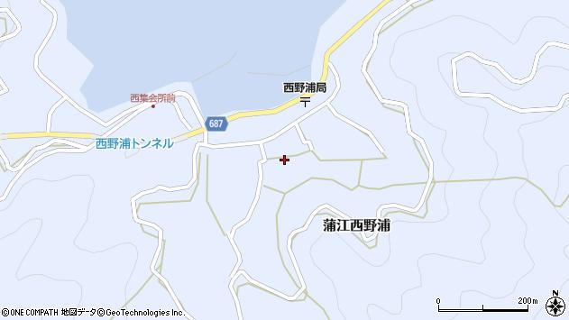 大分県佐伯市蒲江大字西野浦1147周辺の地図