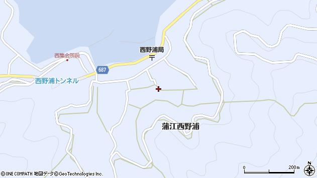 大分県佐伯市蒲江大字西野浦1229周辺の地図