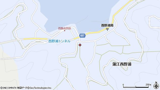 大分県佐伯市蒲江大字西野浦415周辺の地図