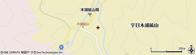 大分県佐伯市宇目大字木浦鉱山431周辺の地図
