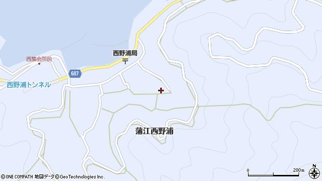 大分県佐伯市蒲江大字西野浦1412周辺の地図