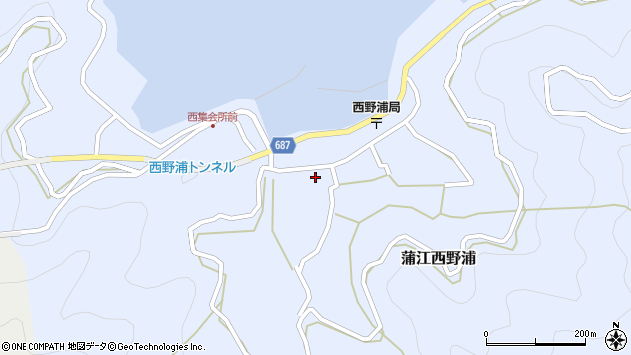 大分県佐伯市蒲江大字西野浦1129周辺の地図