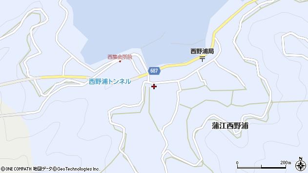 大分県佐伯市蒲江大字西野浦412周辺の地図