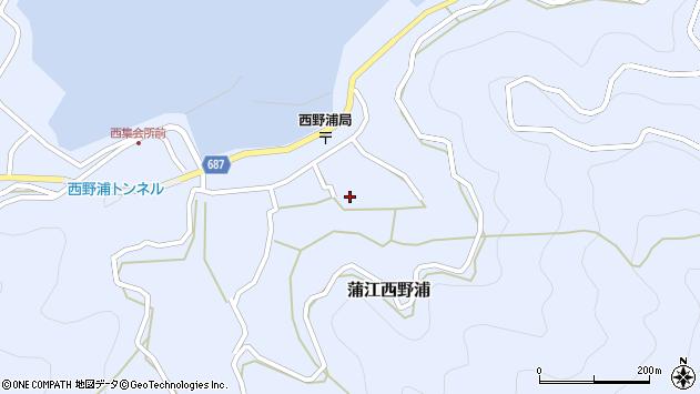 大分県佐伯市蒲江大字西野浦1232周辺の地図