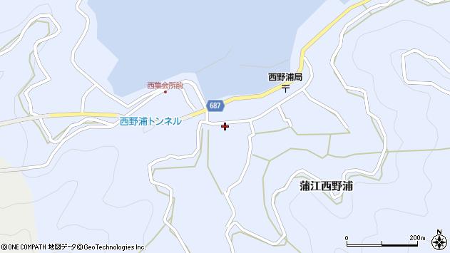 大分県佐伯市蒲江大字西野浦408周辺の地図