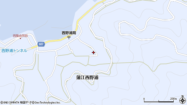 大分県佐伯市蒲江大字西野浦1282周辺の地図