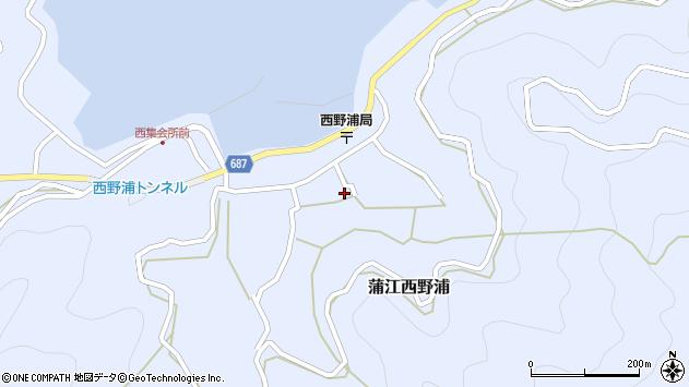 大分県佐伯市蒲江大字西野浦1222周辺の地図