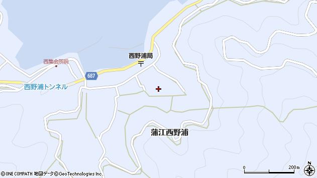 大分県佐伯市蒲江大字西野浦1303周辺の地図