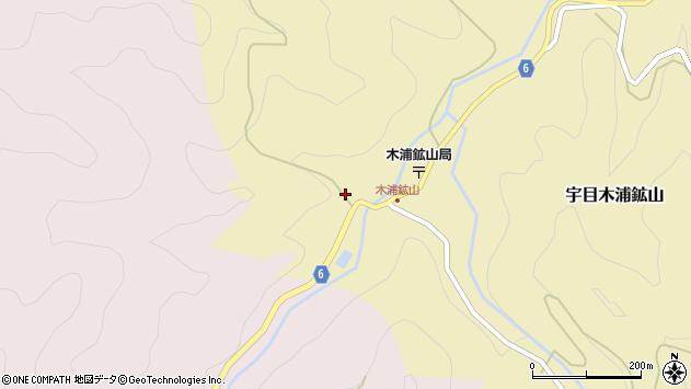 大分県佐伯市宇目大字木浦鉱山348周辺の地図