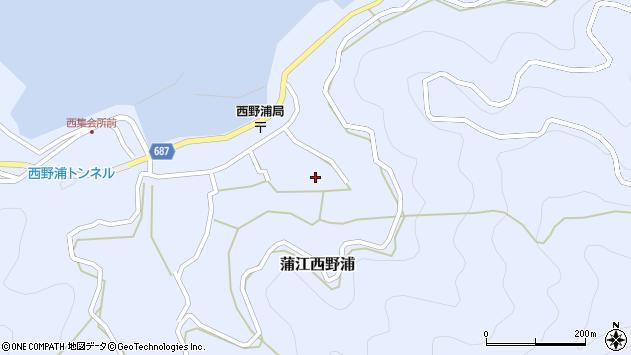 大分県佐伯市蒲江大字西野浦1294周辺の地図