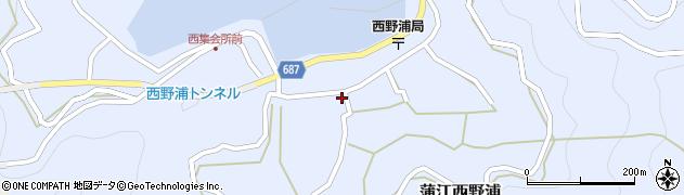 大分県佐伯市蒲江大字西野浦1139周辺の地図