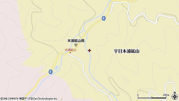 大分県佐伯市宇目大字木浦鉱山106周辺の地図