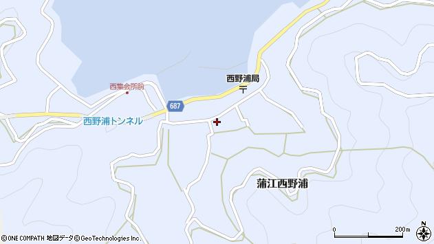 大分県佐伯市蒲江大字西野浦1143周辺の地図