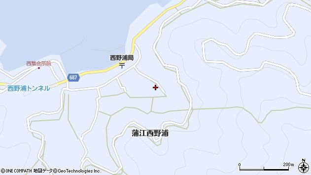 大分県佐伯市蒲江大字西野浦1284周辺の地図