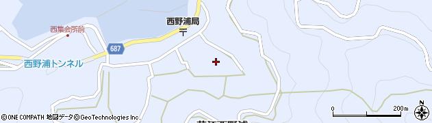 大分県佐伯市蒲江大字西野浦1298周辺の地図