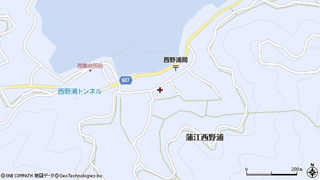 大分県佐伯市蒲江大字西野浦1145周辺の地図