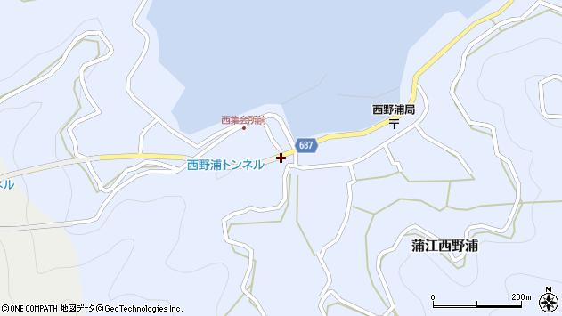 大分県佐伯市蒲江大字西野浦402周辺の地図