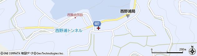 大分県佐伯市蒲江大字西野浦404周辺の地図