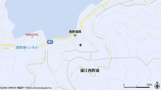 大分県佐伯市蒲江大字西野浦1237周辺の地図